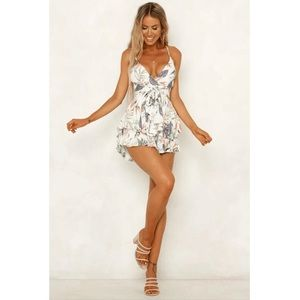 Other - COMING SOON! Strappy Back Floral Playsuit